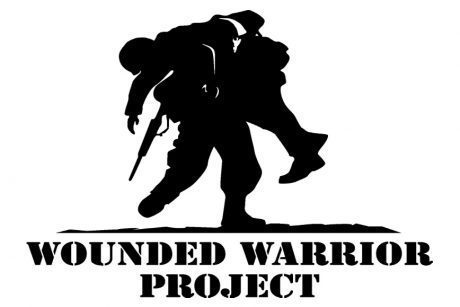In this example, the image follows text within a link to inform users about our support. It has the text alternative to convey the meaning of the icon: Wounded Warrior Project