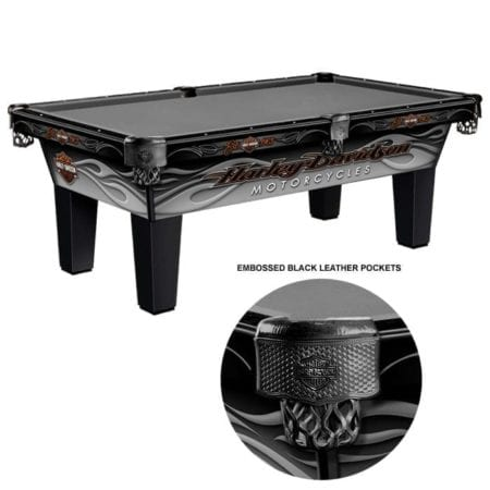 Olhausen Harley Davidson Radical Flames Pool Table