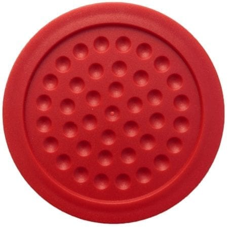 Red Dimpled Air Hockey Puck