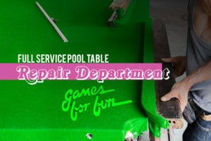 repair and maintain your pool table
